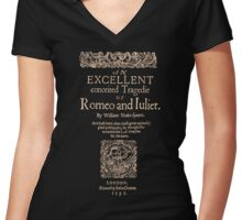 Shakespeare, Romeo and Juliet. Dark Clothes Version Women's Fitted V-Neck T-Shirt