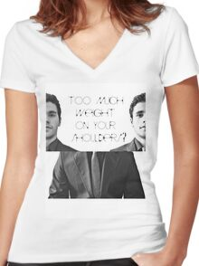 Too much weight on your shoulders? Women's Fitted V-Neck T-Shirt