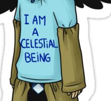 I'm a celestial being Sticker