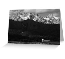 Church of Saint Peter in black and white Greeting Card