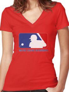 Major League Blernsball Women's Fitted V-Neck T-Shirt