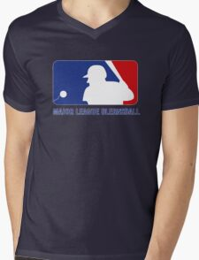 Major League Blernsball Mens V-Neck T-Shirt