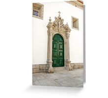 Capela das Malheiras side door Greeting Card