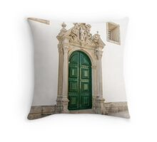 Capela das Malheiras side door Throw Pillow