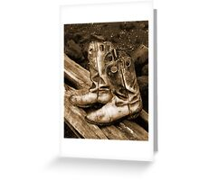 Old Cowboy Boots Greeting Card