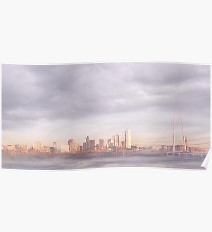 Dallas Skyline in the Fog Poster