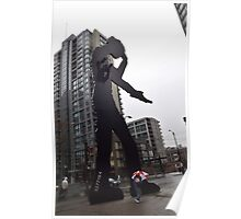 """""""The Hammering Man"""" Seattle Art Museum Downtown Poster"""