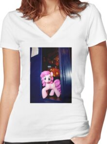 The whole of Time and Space? This needs A PARTY!!! Women's Fitted V-Neck T-Shirt
