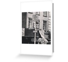 Walking Down Bleecker Greeting Card