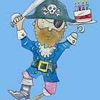 Happy Birthday Jolly Pirate  by AndyLanhamArt