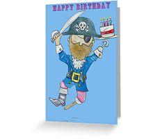 Happy Birthday Jolly Pirate  Greeting Card