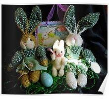 The Bunny Family At Easter Poster