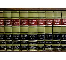 Law Books Photographic Print