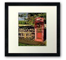 Village telephone box Framed Print