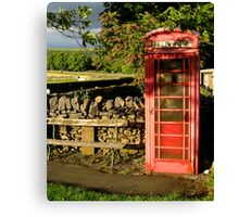 Village telephone box Canvas Print