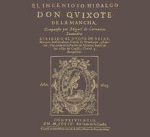 Cervantes, Don Quijote de la Mancha. Dark clothes version One Piece - Short Sleeve