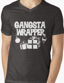 Gangsta Wrapper for Christmas Mens V-Neck T-Shirt
