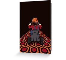 The Shining  Danny Torrance Go Kart Greeting Card