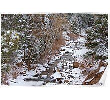 Colorado St Vrian Winter Scenic Landscape View Poster