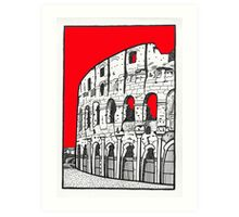 The Colosseum in red Art Print