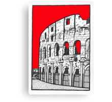 The Colosseum in red Canvas Print