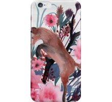 Foxy Field and Flowers iPhone Case/Skin