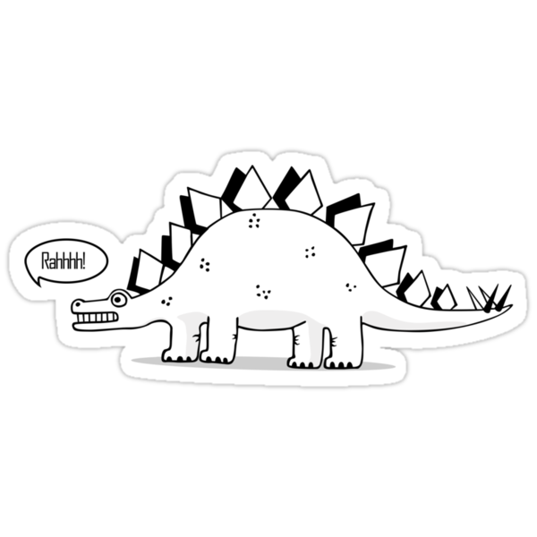 Cartoon Stegosaurous by Siegeworks .