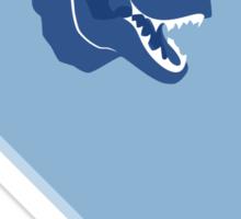 Cyan T-Rex Morale Sticker