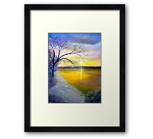 Snowy  Beach Sunrise Framed Print