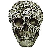 Mayan Skull Photographic Print