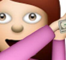 Make It Rain Emoji Design - DROP THOSE DOLLAS. Sticker