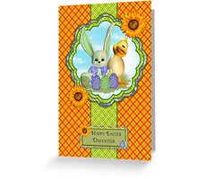 Daughter Easter Greeting Card With Spring Colors Greeting Card