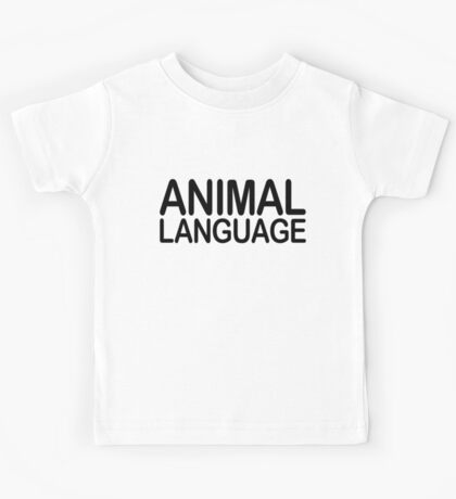 Animal Language Kids Tee