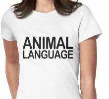 Animal Language Womens Fitted T-Shirt