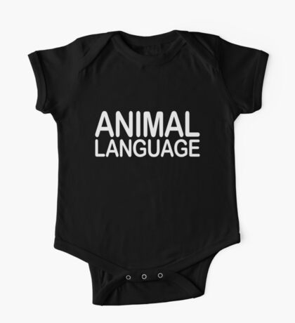 Animal Language One Piece - Short Sleeve