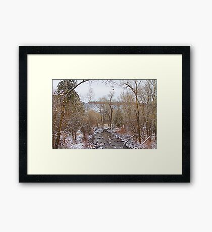 Winter Creek Red Rock Scenic Landscape View Framed Print