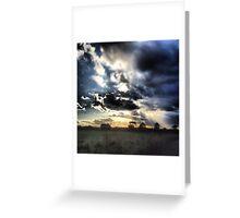 Dark Rays Greeting Card