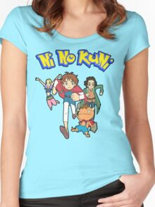 Pokemon + Ni No Kuni = Pokuni? Ninokémon? Women's Fitted Scoop T-Shirt