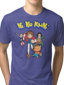 Pokemon + Ni No Kuni = Pokuni? Ninokémon? Tri-blend T-Shirt