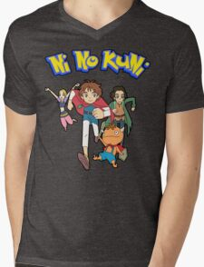 Pokemon + Ni No Kuni = Pokuni? Ninokémon? Mens V-Neck T-Shirt