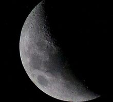 Half moon in the night sky by outbacksnaps