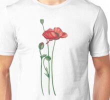flowers, poppies Unisex T-Shirt