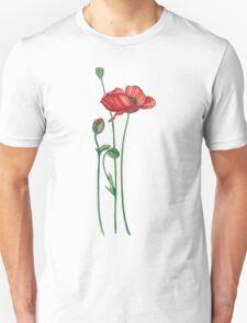 flowers, poppies T-Shirt