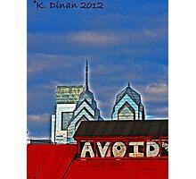 """""""Avoid"""" Photographic Print"""