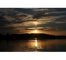Sunset over lake Photographic Print