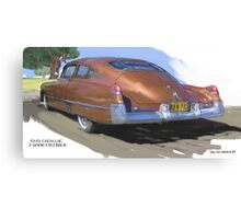 1949 Cadillac Fastback Canvas Print