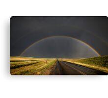 Hail Storm and Rainbow Canvas Print