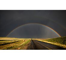 Hail Storm and Rainbow Photographic Print