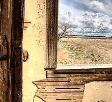 Interior abandoned house prairie Saskatchewan Canada by pictureguy