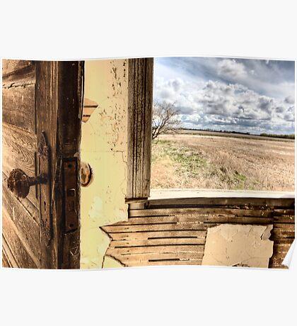 Interior abandoned house prairie Saskatchewan Canada Poster